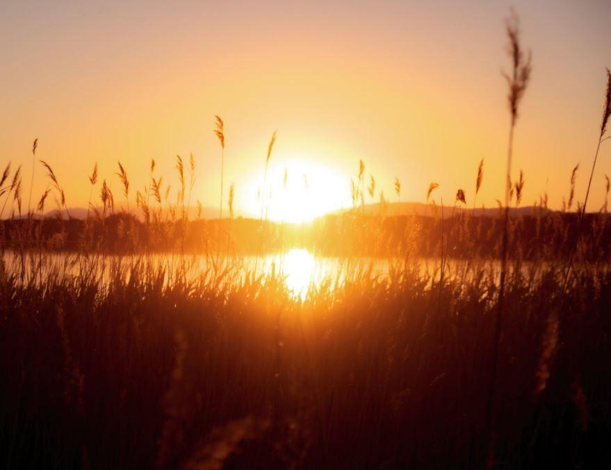 západ slunce na Berounce